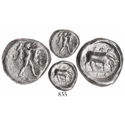 Lucania, Poseidonia, AR stater, 410-350 BC.
