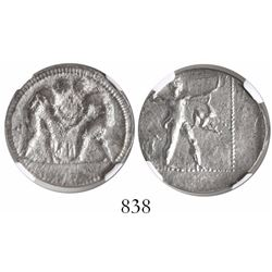 Pamphylia, Aspendus, AR stater, 4th-3rd centuries BC, encapsulated NGC VF, strike 3/5, surface 4/5.