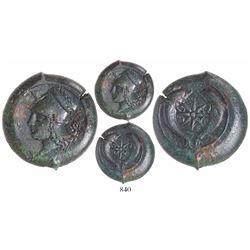 Sicily, Syracuse, AE litra, 344-336 BC.
