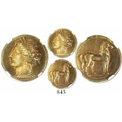Zeugitana, Carthage, electrum stater, 320-270 BC, encapsulated NGC XF, strike 5/5, surface 3/5.