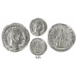 Roman Empire, AR denarius, Severus Alexander, AD 222-235, encapsulated NGC MS, strike 5/5, surface 3