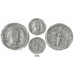 Roman Empire, AR denarius, Maximinus I, AD 235-238, encapsulated NGC MS, strike 5/5, surface 4/5.