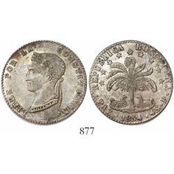 La Paz, Bolivia, 4 soles, 1854/3F.