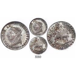 Potosi, Bolivia, 1/2 sol, 1857FJ, encapsulated PCGS MS64, rare grade.