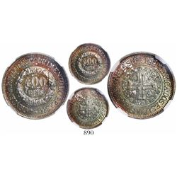 Brazil, 400 reis, 1900, 400th Anniversary of Discovery of Brazil, encapsulated NGC MS 64.