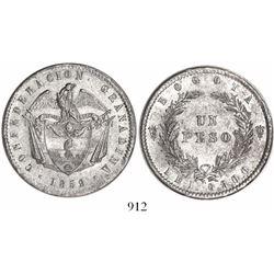 Bogota, Colombia, 1 peso, 1859.
