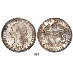 Medellin, Colombia, 1 peso, 1871.