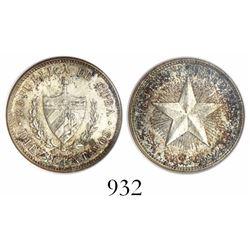 Cuba, 10 centavos, 1916, encapsulated ANACS MS 62.