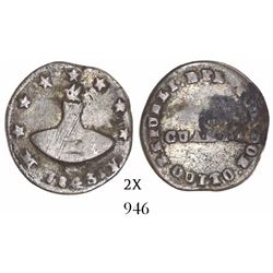 Quito, Ecuador, 1/4 real, 1843MV, ex-Bir.