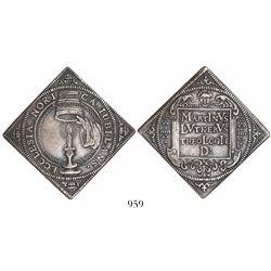 Nurnberg, German States, klippe 1/2 thaler, 1617, Reformation centennial.