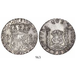 Guatemala, pillar 8 reales, Charles III, 1769P.
