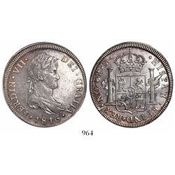 Guatemala, bust 8 reales, Ferdinand VII, 1816M.