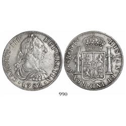 Mexico City, Mexico, bust 8 reales, Charles III, 1782FF.