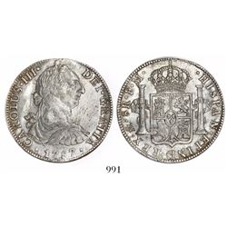 Mexico City, Mexico, bust 8 reales, Charles III, 1787FM.