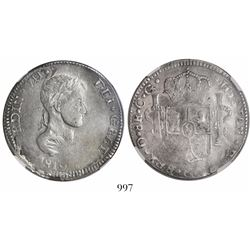 Durango, Mexico, bust 8 reales, Ferdinand VII, 1819CG, encapsulated NGC XF 45.