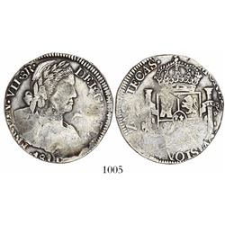 Zacatecas, Mexico, bust 8 reales provisional, Ferdinand VII (laureate bust), 1811 (no assayer), rare
