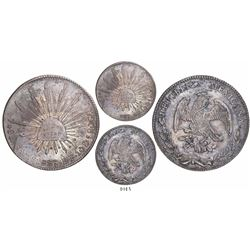 Estado de Mexico, Mexico, cap-and-rays 8 reales, 1829LF.