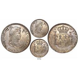 Lima, Peru, bust 4 reales, Ferdinand VII, 1820JP.