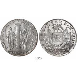 """Lima, Peru, 8 reales, 1823, """"Peru Libre."""""""