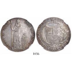 Lima, Peru, 8 reales, 1855MB, encapsulated NGC MS 61.