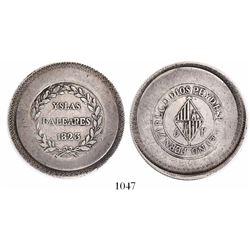 Majorca, Spain (Balearic Islands), 5 pesetas, Ferdinand VII, 1823.
