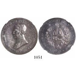 Uruguay (struck in Santiago), 50 centavos, 1916, encapsulated NGC MS 61.