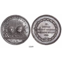 Argentine-Chilean Union against Spain, silver medal, 1820, by J. de Dios Espejo, very rare.