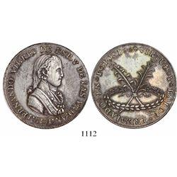 Potosi, Bolivia, silver 8R-sized award medal, Ferdinand VII, 1812, BALOR error in legend, rare.