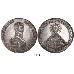 Potosi, Bolivia, large silver medal, 1825, Bolivar, sun under T.