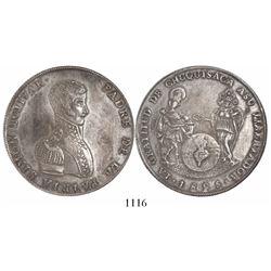 Chuquisaca (Sucre), Bolivia, large silver medal, 1825, Bolivar.