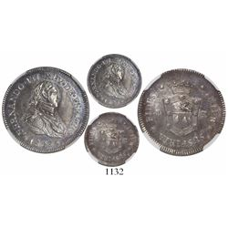 Guatemala (under Mexico), 1R-sized silver proclamation medal, Ferdinand VII, 1808, rare legend varie