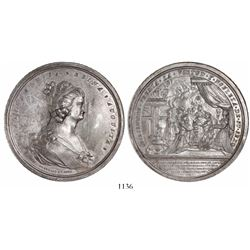 Mexico City, Mexico, large silver medal, 1793, Queen Maria Luisa / Royal Order of Noble Ladies.