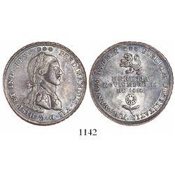 Tarma, Peru, 4R-sized silver proclamation medal, Ferdinand VII, 1808, Urrutia.