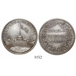 Callao, Peru, silver medal, 1834, General and President Luis Orbegoso.
