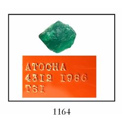 High-quality natural Atocha emerald, 3.18 carats.
