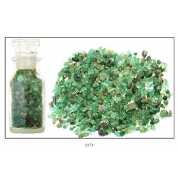 Large lot of hundreds of natural emeralds (43.5 carats total), found in 1986.
