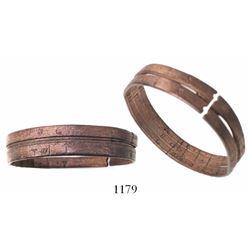 Copper pocket sundial (ring dial), rare.