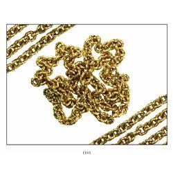 "Gold ""money"" chain, 118 twisted links, 226.5 grams. 1715 Fleet"