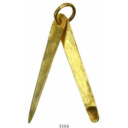 Gold manicure set (toothpick and ear-spoon).  1715 Fleet