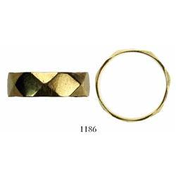 Gold ring, low grade, size 4-1/2.  1715 Fleet