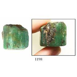 Huge natural emerald, 108.3 carats, ex-Bobby Allison's Sunken Treasure museum.