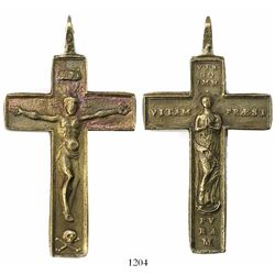 Small but intact cuprous cross.