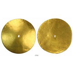 Pre-Columbian (Inca?) gold disk.