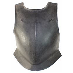 English steel breastplate, late 1600s.