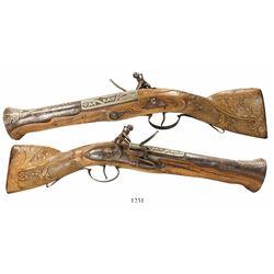 Eastern European flintlock blunderbuss pistol, late 1700s.