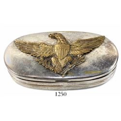 Silver-plated brass hinged box for personal effects from the U.S. Civil War (mid-1800s, Union side).