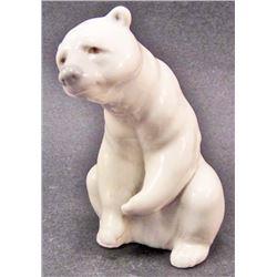 VINTAGE LLADRO WHITE POLAR BEAR FIGURINE