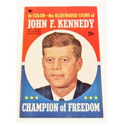 1964 JOHN F KENNEDY JFK ILLUSTRATED STORY