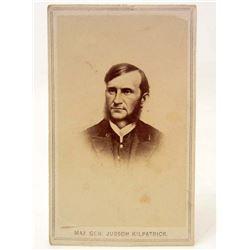 CIVIL WAR CDV PHOTO OF GENERAL JUDSON KILPATRICK