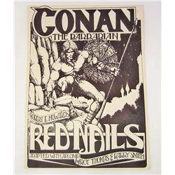 RARE 1936 CONAN THE BARBARIAN COMIC ADVERTISING POSTER